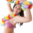 Hula girl — Stockfoto