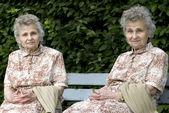 Two elderly women — Stock Photo