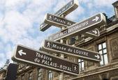 Famous signpost in Paris — Stock Photo
