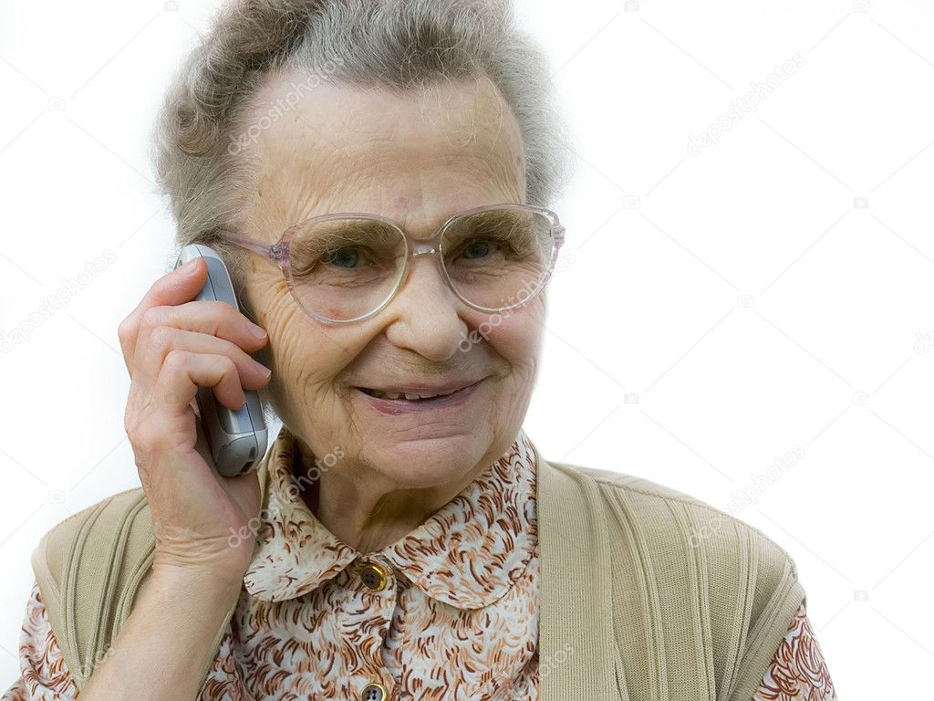 Senior  woman using telephone — Stock Photo #6870370