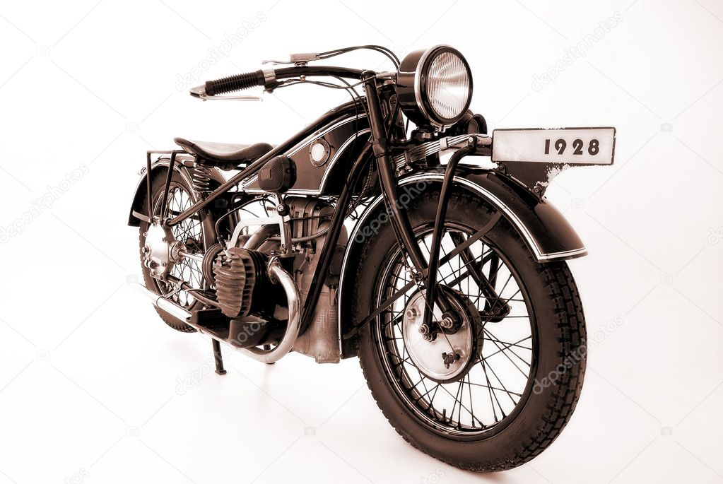Old motorcycle  Stock Photo #6872236