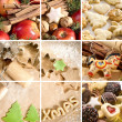 Christmas cakes and spices — Stock Photo