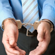 Stock Photo: Businessman in handcuffs