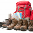 Hiking equipment - Stock Photo