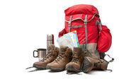 徒步旅行的装备 — 图库照片