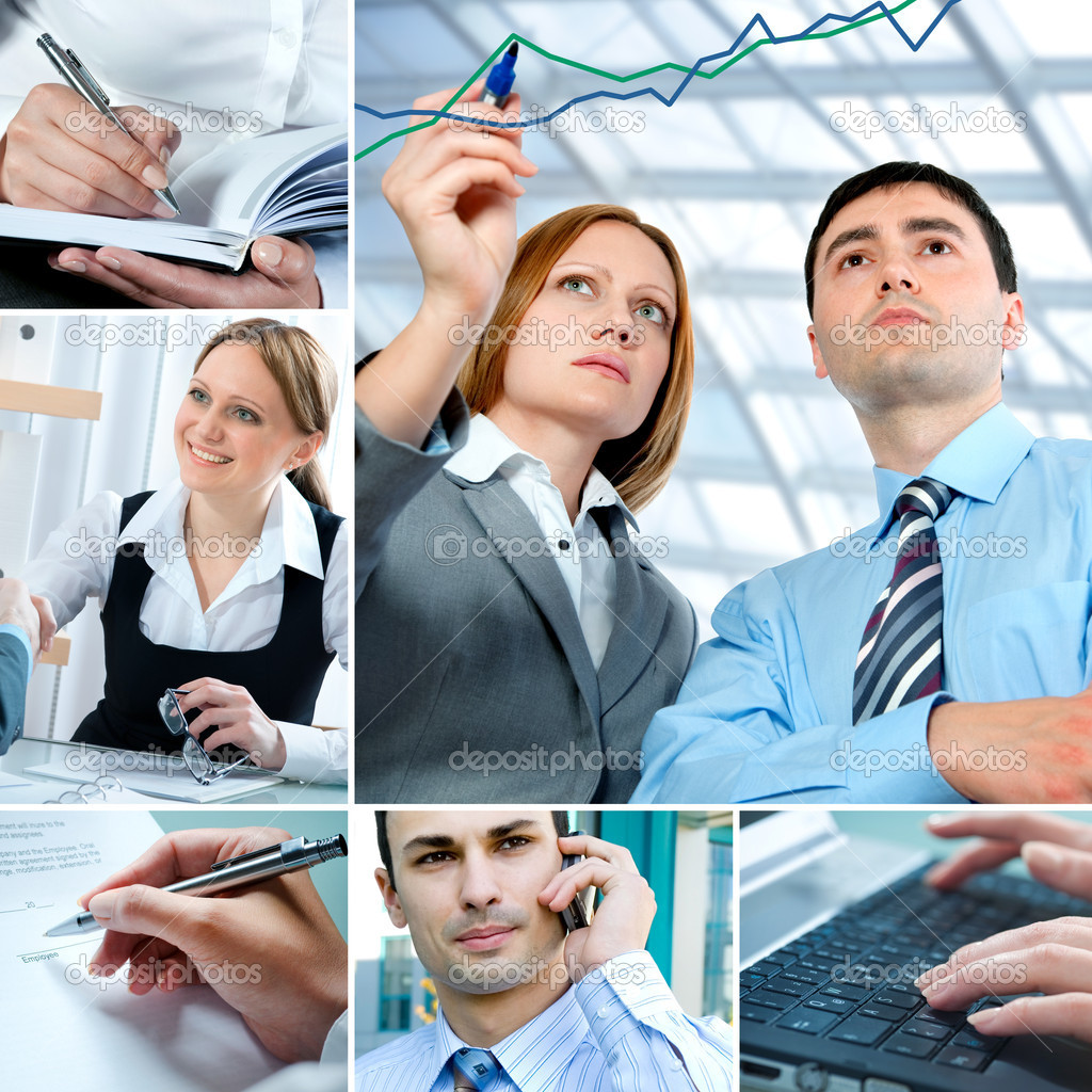 Business Collage — Stock Photo #7240418