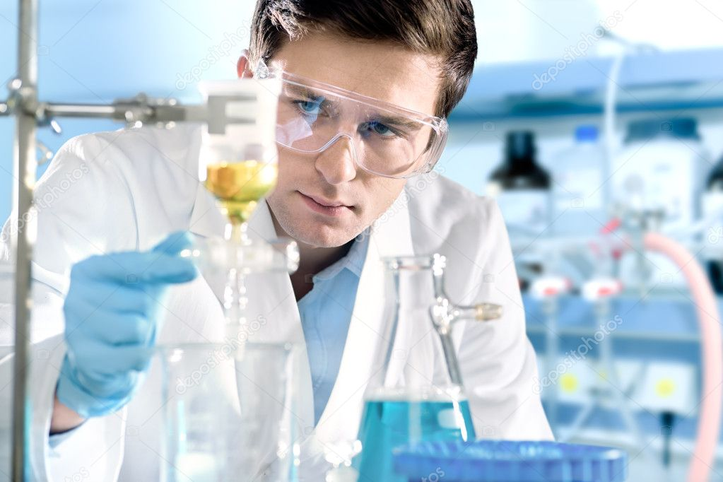 Scientist working at the laboratory.  Stock Photo #7461335