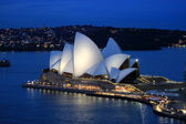 Sydney Opera House at sunset light — Stock Photo