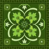Scarf green — Stock Vector