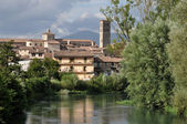 City center and cathedral from velino, rieti — Stock fotografie