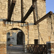 Castle drawbridge, brescia — Stock Photo