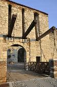 Castle drawbridge, brescia — Stock Photo
