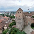 Castle and cityscape , nurnberg - Stock Photo