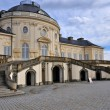 Schloss solitude courtyard facade, stuttgart - Stock Photo