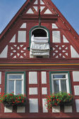 Duvet at window #1, bad wimpfen — Stock Photo