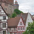 Stock Photo: Wattle houses and castle, nurnberg