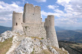 Ruins of rocca calascio fortress, abruzzi — Stock Photo
