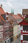 Street and wattle houses , nurnberg — Stock Photo