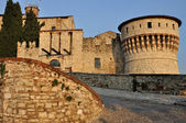 Castle inner entrance, brescia — Stock Photo