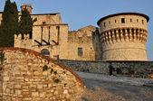 Castle inner entrance, brescia — Stock Photo
