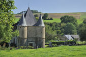 St etienne fortified church, sernion, ardennes — Stock Photo