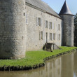 Stock Photo: Castle moat, rumigny, ardennes