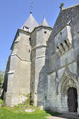 St remi fortified church, aoust, ardennes — Stock Photo