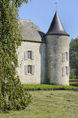 Castle round tower, rumigny, ardennes — Stock Photo