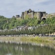 Stock Photo: Bouillon castle and semois river, ardennes
