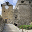 Stock Photo: Clock tower, bouillon castle, ardennes