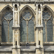 Stock Photo: Cathedral windows and buttresses, reims