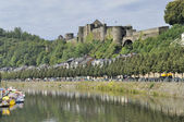Bouillon castle and semois river, ardennes — Stock Photo