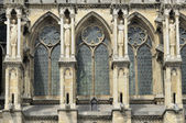 Cathedral windows and buttresses, reims — Stock Photo