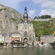 Meuse, notre dame and citadelle, dinant — Stock Photo