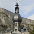 Notre dame bell tower, dinant — Stock Photo