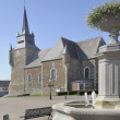 Stock Photo: Fountain and church, signy le petit, ardennes