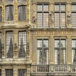 Ornated facades on grand place, brussels — Stock Photo