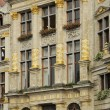 Stock Photo: Grand place windows, brussels