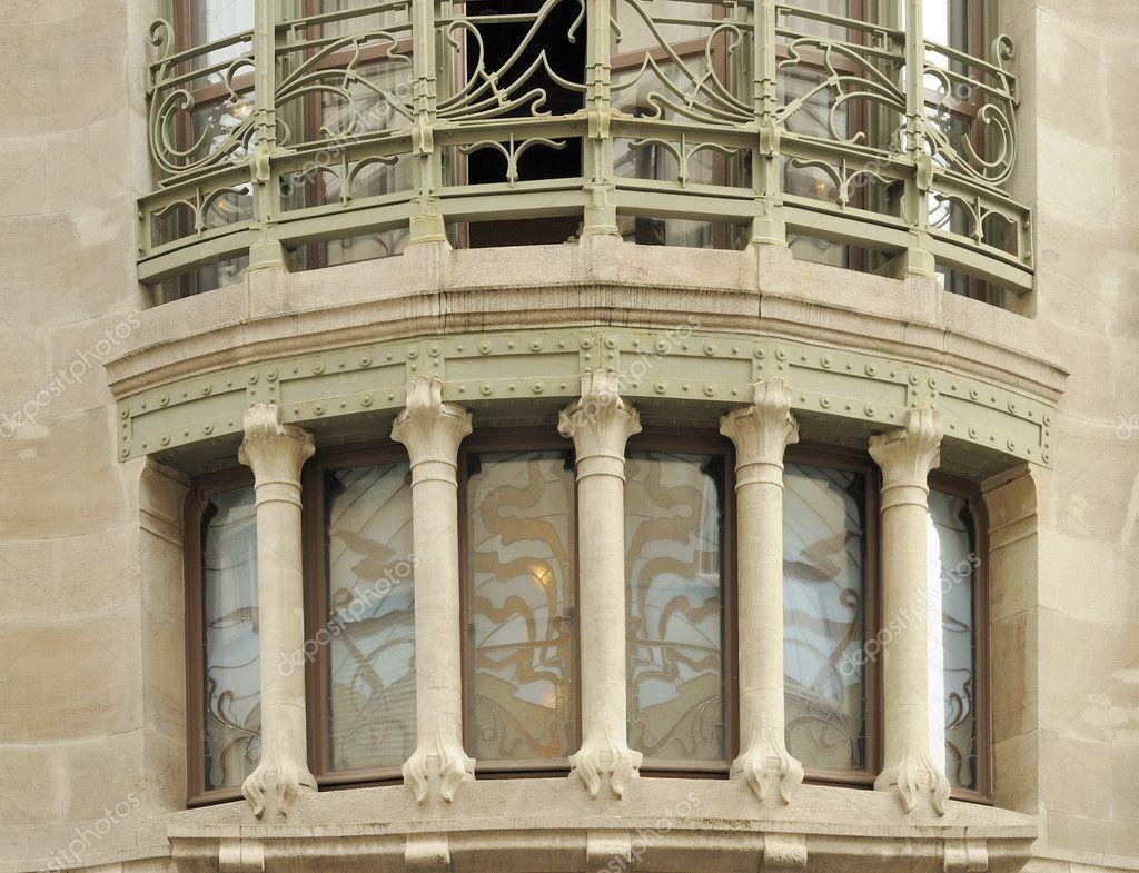 #847547 Baixar Horta hotel solvay arco janela Bruxelas — Imagem de Stock  570 Janelas Em Arco Pleno