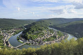 Meuse river bending at montherme', ardennes — Stock Photo