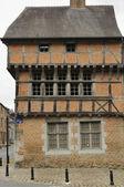 Wattle facade, revin, ardennes — Stock Photo