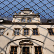 Glass roofing at dresden castle — Stock Photo