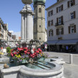 Stock Photo: Stone fountain in rathaustrasse, bregenz