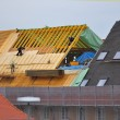 Stock Photo: Wooden roof reconstruction, regensburg