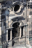 Cathedral's window, dresden — Stock Photo