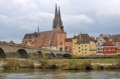 City center form elbe, regensburg — Stock Photo