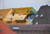 Wooden roof reconstruction, regensburg — Stock Photo