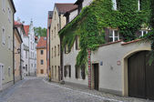 Eck zum vaulschink, regensburg — Stock Photo