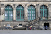 Bicycles at zwinger, dresden — Stock Photo