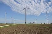 Energy plant in plains, saxony — Stock Photo